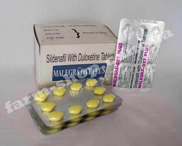 Виагра | Силденафил 100мг+Дулоксетин 30мг |Malegra DXT Plus